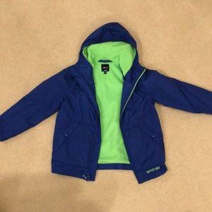 Gap fleece line rain jacket
